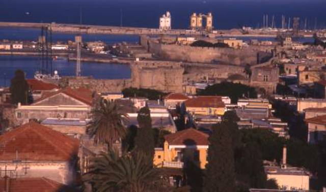 an overview of Old Town Rhodes